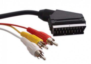 cable scart en 3rca