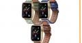 Bracelet Apple Watch en Semi-Cuir motif Gaufrage