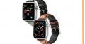 Bracelet Apple Watch en cuir mat