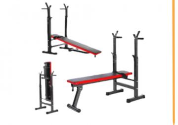 Banc Musculation Multifonction Abdominal; Support Barre Haltere