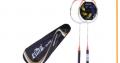 Ensemble de 2 Raquettes de Badminton avec Sac de Rangement