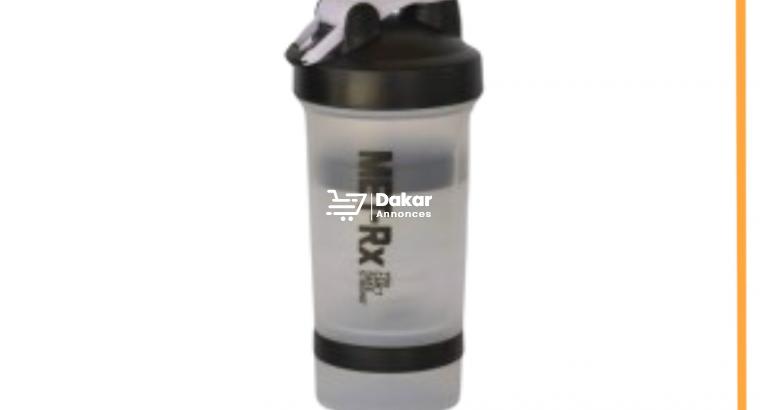 Protein Shaker Melangeur avec Compartiment Poudre