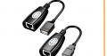 Adaptateur de câble d'extension USB sur RJ45