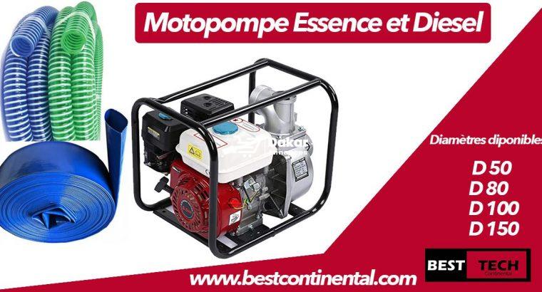 MOTOPOMPE A ESSENCE DE MARQUE HONDA ET A GAS-OIL DE MARQUE KIPOR ET ACCESSOIRES A VENDRE